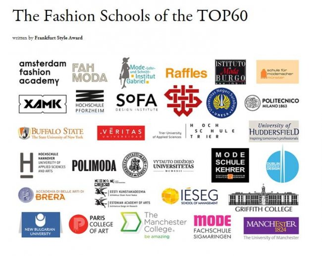 top fashion schools